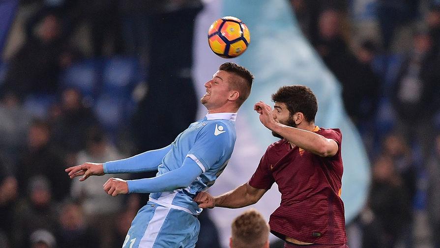 Нападающий «Лацио» Чиро Иммобиле стал автором одного из голов в ворота «Ромы»