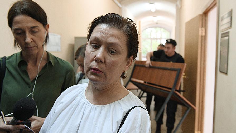 Бывший директор Библиотеки украинской литературы вМоскве Наталья Шарина после оглашения приговора