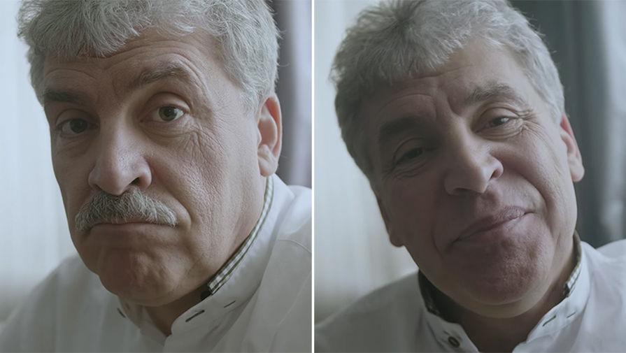 Грудинин сбривает усы на камеру