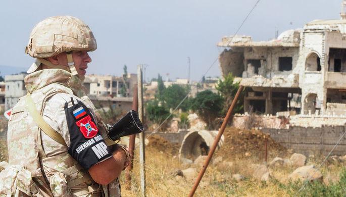 Сотрудник российской военной полиции в сирийской провинции Эль-Кунейтра, 2 августа 2018 года