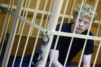 Владимир Подрезов, подозреваемый в причастности к покраске звезды на шпиле высотки на Котельнической набережной, в Таганском суде