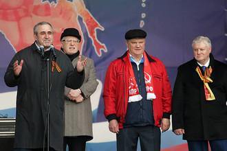 Сергей Неверов, Владимир Жириновский, Геннадий Зюганов и Сергей Миронов