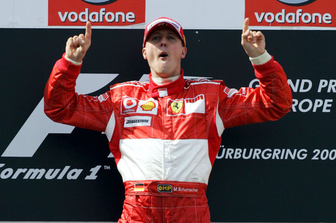 Наибольших успехов Шумахер достиг, выступая за «Феррари»