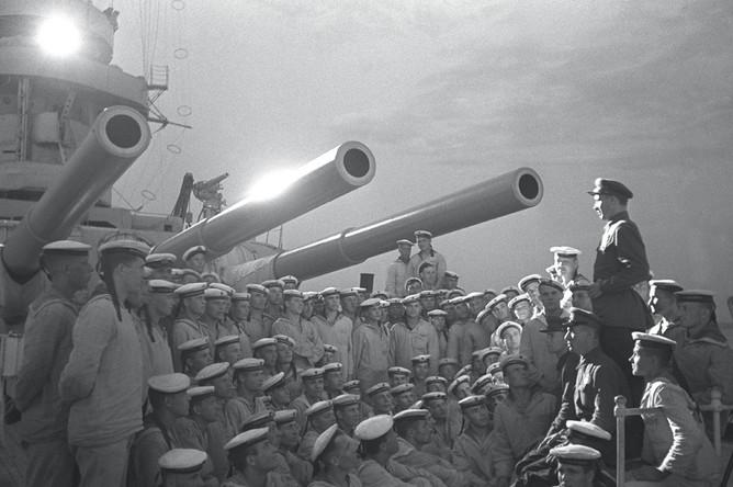 Вечер на линкоре «Марат», 1936 год