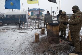 Блокада железной дороги в Донбассе, февраль 2017 года