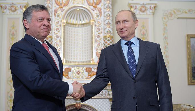 Король Иорданского Хашимитского Королевства Абдалла II и президент РФ Владимир Путин