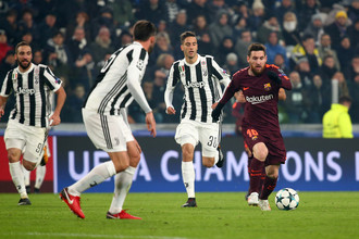 Эпизод матча «Ювентус» — «Барселона»