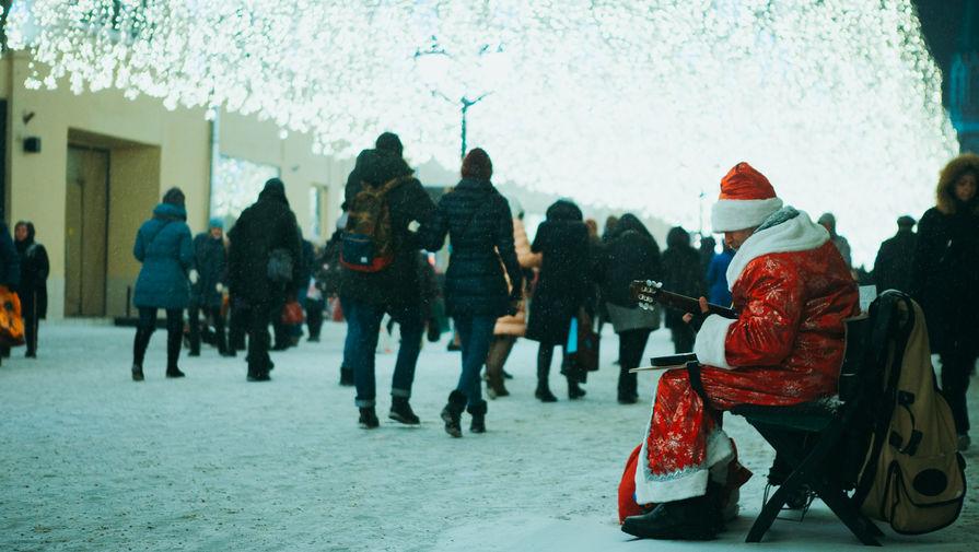 Новогодняя иллюминация на улицах Москвы, декабрь 2018 года