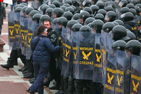 Спецназ в центре Минска