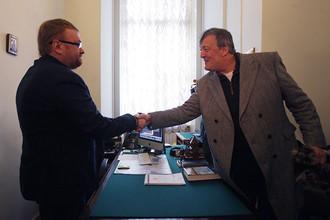В Санкт-Петербурге встретились британский актер и писатель Стивен Фрай и депутат ЗакСа Виталий Милонов