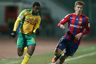 «Кубань» потерпела второе поражение от ЦСКА в чемпионате России по футболу