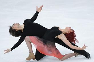 Тиффани Загорски и Джонатан Гурейро (Россия) в произвольной программе танцев на льду