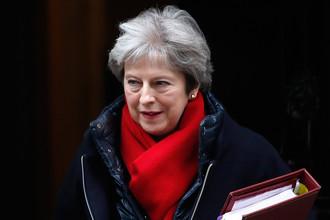 Премьер-министр Великобритании Тереза Мэй на Даунинг-стрит в Лондоне, 21 февраля 2018 года