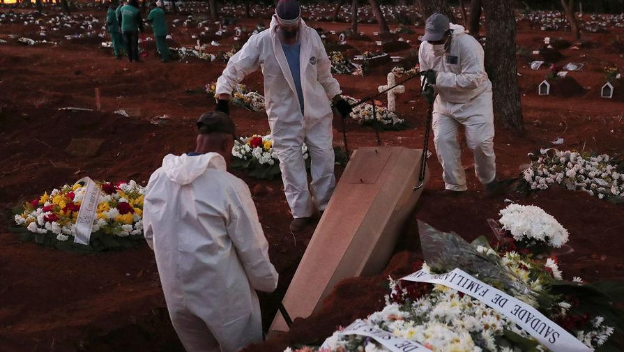 Похороны жителя города Сан-Паулу, умершего от коронавируса