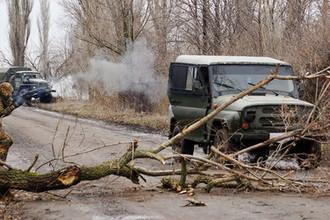 Во время учений в Луганской области, апрель 2018 года