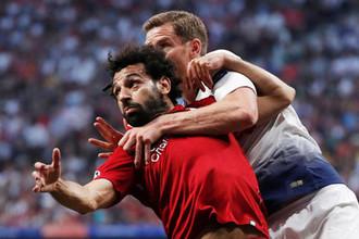 Эпизод финального матча Лиги чемпионов «Тоттенхэм» — «Ливерпуль»