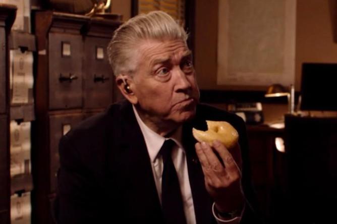 Дэвид Линч в тизере третьего сезона «Твин Пикса», 2016 год