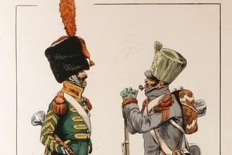 Тамбур-мажор легкой пехоты и гренадер линейной пехоты