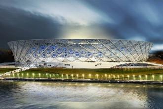 <b>«Победа»</b> (Волгоград), строится, должен быть готов в 2017 году. Стоимость постройки &mdash; 17,021 млрд руб. Вместимость составит 45 тыс. человек. Станет домашним стадионом ФК «Ротор» &nbsp;