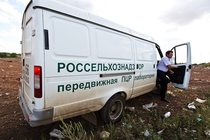 Машина Россельхознадзора на полигоне Оренбургской области