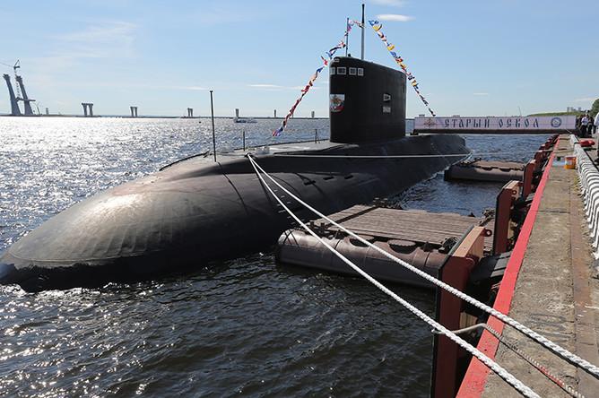 Дизель-электрическая подводная лодка Б-262 «Старый Оскол» представлена на открытии 7-го Международного военно-морского салона, 2015 год