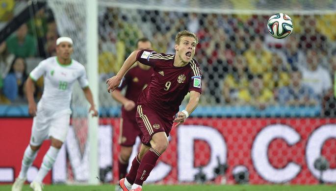 Футболист сборной России Александр Кокорин во время матча чемпионата мира 2014 года в Бразилии