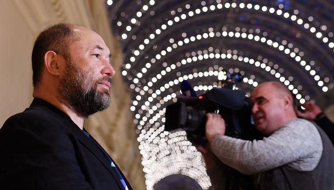 Режиссер Тимур Бекмамбетов на показе анимационного биографического фильма по рассказам Резо Габриадзе «Знаешь, мама, где я был?» в рамках фестиваля искусств «Черешневый лес» в Москве, апрель 2018 года