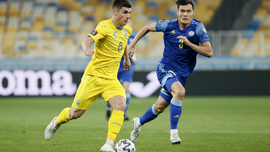 Эпизод матча Украина- Казахстан