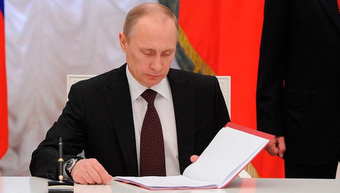 Путин лично поздравил с назначением врио Севастополя
