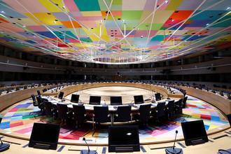 Зал заседаний в здании Евросовета в Брюсселе, 2016 год