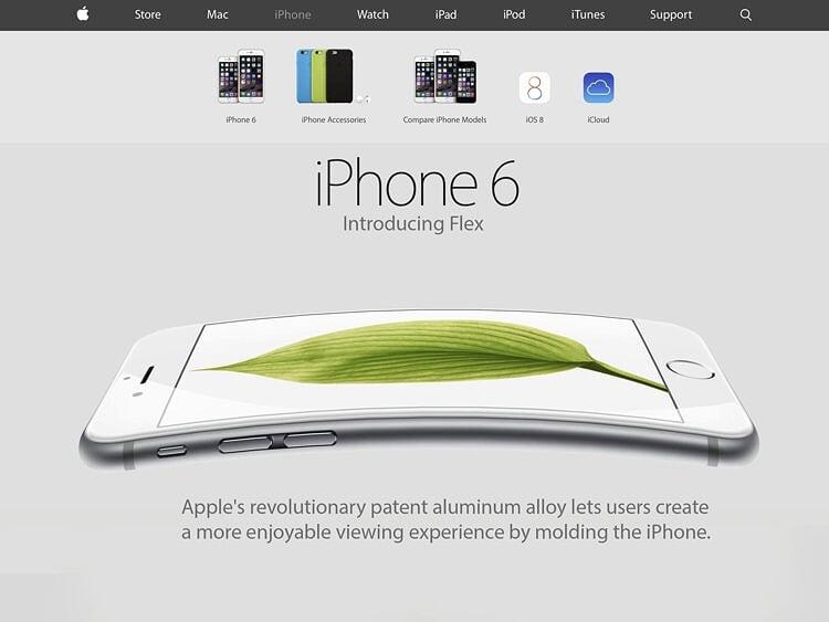 Шуточный коллаж с iPhone 6 Plus