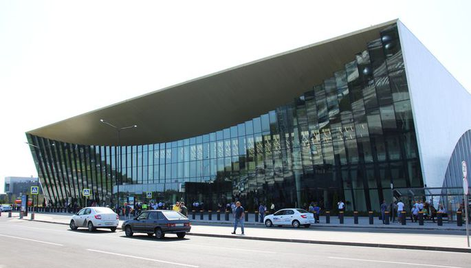 Здание международного аэропорта «Гагарин» в Саратовской области, 2019 год