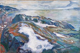 Эдвард Мунк, «Зимний пейзаж»