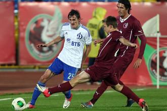Динамовец Владимир Дядюн в игре против своего бывшего клуба — «Рубина»