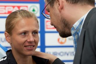 Юлия Степанова и автор фильмов о допинге в России Хайо Зеппельт