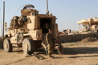 Военнослужащие США на совместной с иракскими войсками базе к югу от Мосула, 23 февраля 2017 года