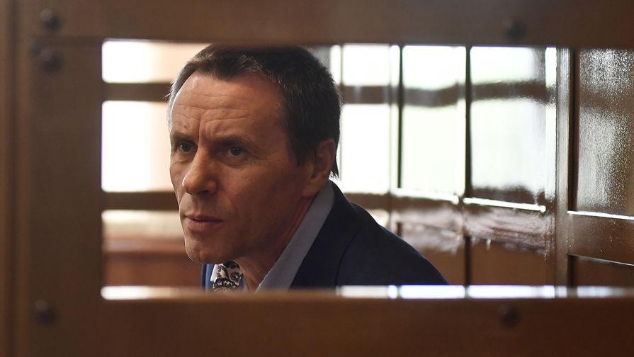 Замглавы управления собственной безопасности Следственного комитета России Александр Ламонов во время оглашения приговора в Мосгорсуде, 26 июля 2018 года