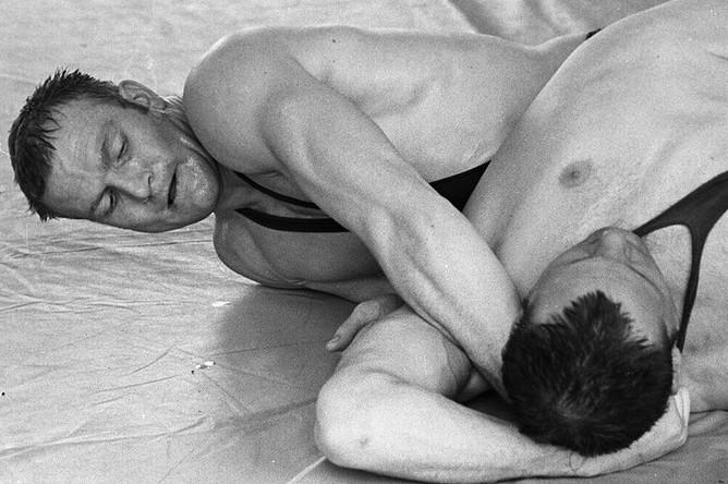 Иван Ярыгин (слева) во время тренировки, 1974 год