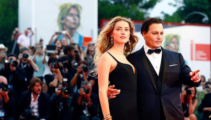 Джонни Депп и Эмбер Херд на премьере фильма «Черная месса» на Венецианском кинофестивале – 2015