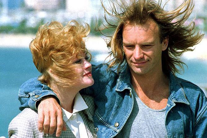 Актриса Мелани Гриффит и Стинг на 41-м Каннском международном кинофестивале, 1988 год