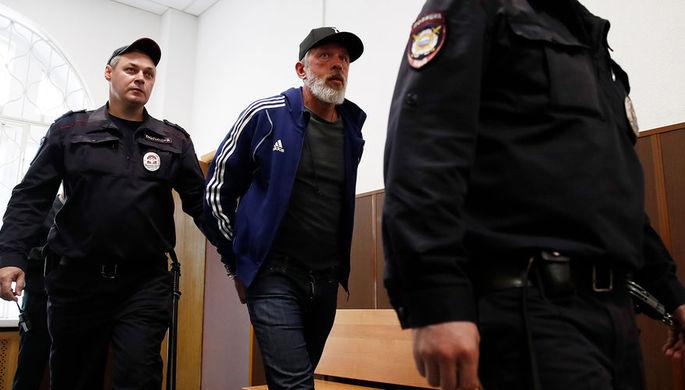 Основатель сети ресторанов «Корчма Тарас Бульба» Юрий Белойван после оглашения приговора в Басманном суде Москвы, 4 июля 2019 года