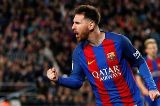 Лионель Месси отличился дублем в матче «Барселоны» против «Валенсии»