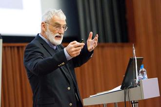 Деннис Медоуз на лекции в «Сколково»