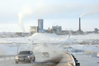 Вид на шахту «Воркутинская» в Республике Коми