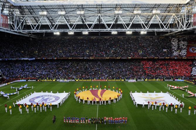 Торжественная церемония открытия финала Лиги Европы на «Амстердам Арене»