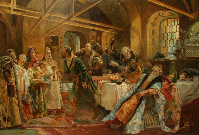 «Поцелуйный обряд», Константин Маковский