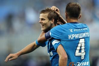 «Зенит» уничтожил «Спартак» в матче чемпионата России по футболу