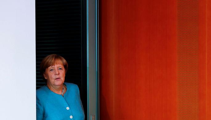 Канцлер Германии Ангела Меркель в Бундестаге, август 2017