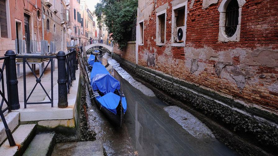 Вместо канала — ручей: из Венеции ушла вода