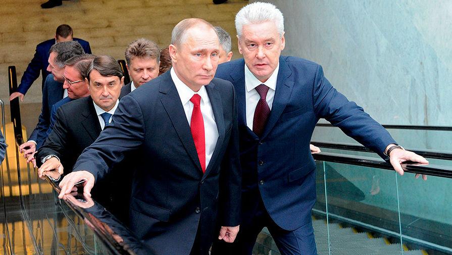 Собянин мобилизует избирателей в районах с высоким результатом за Путина